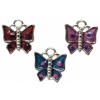 Pendant Small Epoxy Butterfly Assorted Colours